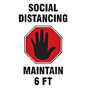 ID Badge: Social Distancing Maintain 6 FT