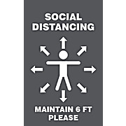 ID Badge: Social Distancing Maintain 6 FT Please