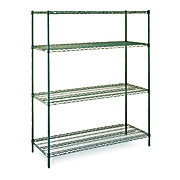 Stationary Wire Shelving, Epoxy Coated