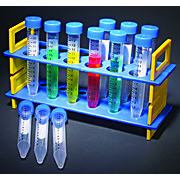TEST TUBE RACK SET, PLASTIC TUBES