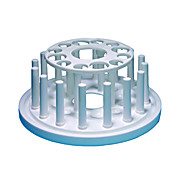 PLASTIC TEST TUBE RACK, ROUND, 12-TUBE