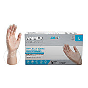AMMEX Exam Grade Powder-Free Vinyl Disposable Gloves