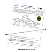 DURAC® Plus™ Individually Calibrated ASTM Liquid-In-Glass Thermometers, Organic Liquid Fill