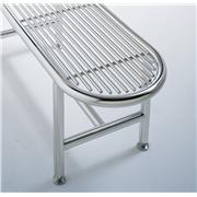 "Image of Free-Standing 0.375"" Rod Top Stainless Steel Gowning Room Benches"