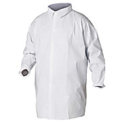 Snaps Fold-Over Collar Non-Elastic Wrists 4 Cases Lab Coat Non-Elastic 30//cs Medium