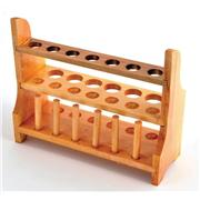 Wooden Test Tube Rack, 13-Tube