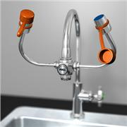 EyeSafe-X™ Faucet-Mounted Eyewash with Adjustable Aerated Outlet Heads