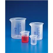 Griffin Beakers - Low Form, PP, Blue Printed Graduations