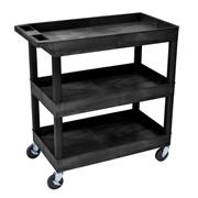 High Capacity Three Shelf Tub Carts