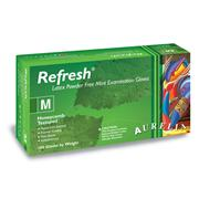 Image of Aurelia® Refresh™ Honeycomb® Textured Peppermint Powder Free Latex Exam Gloves