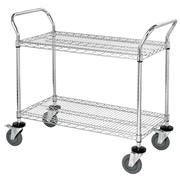 Image of 2 Wire Shelf Mobile Utility Cart