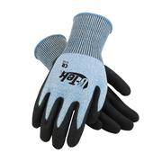 Image of G-Tek® Blue Micro-Surface Nitrile Grip Gloves with HPPE Fiber