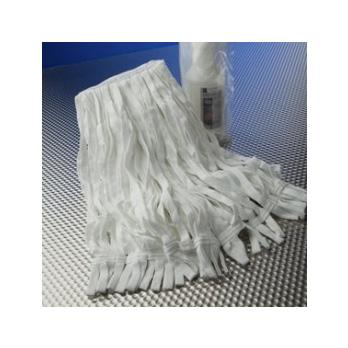 "Cleanroom Mop, Edgeless, Polyester Knit, Loop Style, Laundered, 7"" x 18"""