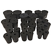 Assorted 1 Hole Rubber Stoppers
