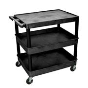 Flat Top and Tub Middle/Bottom Shelf Cart