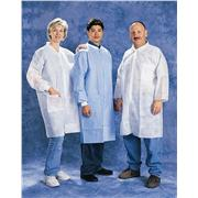Blue SMS Knit Wrist & Cuff Lab Coats