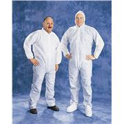 Disposable White PE Coated Polypropylene Coveralls