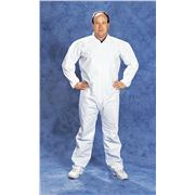 Disposable White Microporous Film Coated Coveralls