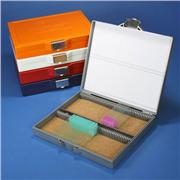 100-Place Slide Storage Box with Lock