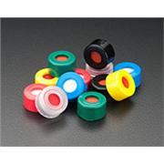 Preassembled R.A.M.™ 9mm Ribbed Screw Thread Cap with Fixed PTFE/Silicone with Slit Septa