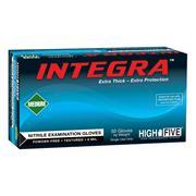 Pack of 50 Medium High Five N892 Powder-Free Textured Nitrile Gloves 12 Teal