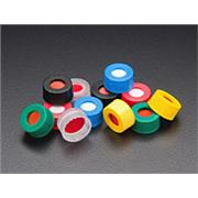 Preassembled R.A.M.™ 9mm Ribbed Screw Thread Cap with PTFE/Silicone/PTFE Septa