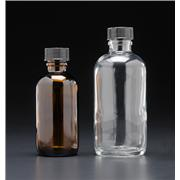 Amber Narrow Mouth Septum Bottle, Precleaned