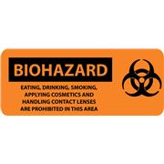 Biohazard, Eating Drinking Smoking Applying Cosmetics...With Graphic Signs