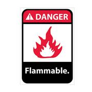 Danger, Flammable With Graphic Signs