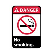 Danger, No Smoking With Graphic Signs