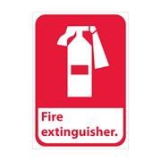 Fire Extinguisher With Graphic Signs