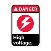Danger, High Voltage With Graphic Signs