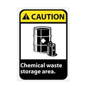 Caution, Chemical Waste Storage Area Signs