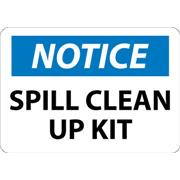 Notice, Spill Clean Up Kit Signs
