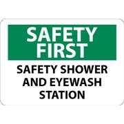 Safety First, Safety Shower And Eye Wash Station Signs