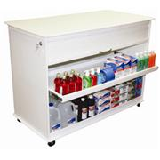 4 Foot Polyethylene Locking Lab Cart