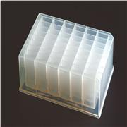 Axygen® 48 Well Clear V-Bottom 5mL Polypropylene Rectangular Well Deep Well Plate, 5 per Pack, Nonsterile
