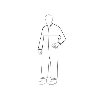 Tyvek® IsoClean® Coveralls with Bound Seams and Bound Neck