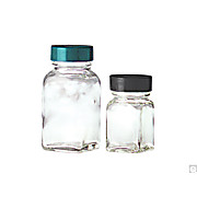 Clear Square Tablet Bottles