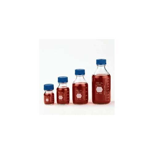 GL 45 Storage/Media Bottles, Plastic Safety Coated with Blue