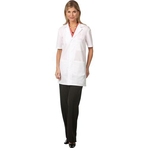 Worklon Unisex Short Sleeve Lab Coat, White, Pharmacy