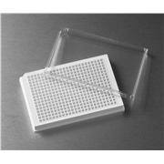 Corning® 384 Well Low Flange White Flat Bottom Polystyrene TC-Treated Microplates, 10 per Bag, with Lid, Sterile