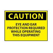 Eye & Ear Protection Machine Operation Caution Sign