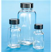 Clear Glass French Square Bottles Without Caps