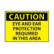 Eye And Ear Protection Area Caution Sign