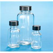 Clear Glass French Square Bottles