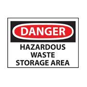 OSHA Hazardous Waste Storage Danger Sign
