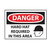 Image of OSHA Hard Hat Danger Sign