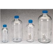Image of Boston Round Clear Glass Bottles