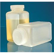 Wide Mouth Polypropylene Square Storage Bottles